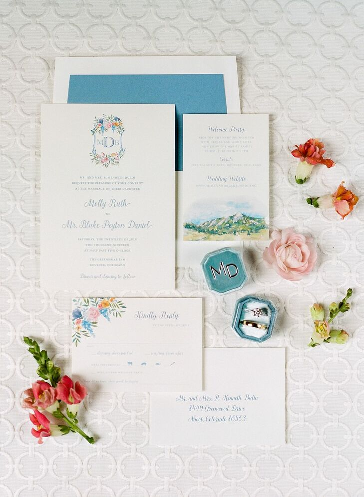 Whimsical Invitations and Paper Goods with Watercolor Artwork