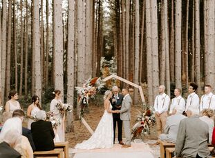 Chrissie Parker and Ryan Nelson got married at Pinewood Weddings And Events, which consists of a Scandinavian-style building in the middle of Minnesot