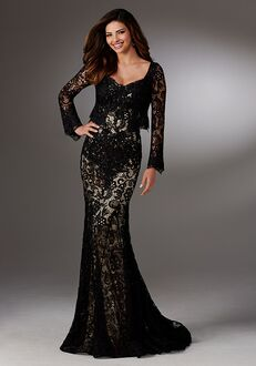 MGNY 71528 Black Mother Of The Bride Dress