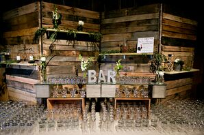 Urban Rustic Bar With Mismatched Wood