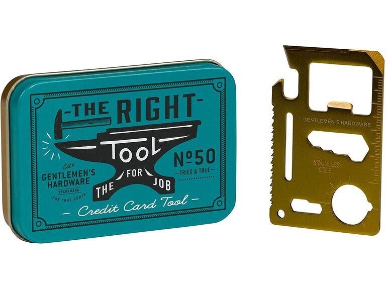 Gentlemen's Hardware credit card tool unique groomsmen gift