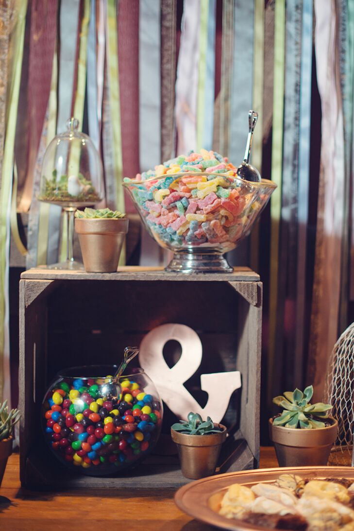 Candy Bar with Whimsical Fish Bowl Server