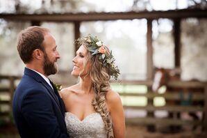 Romantic Eucalyptus Flower Crown and Fishtail