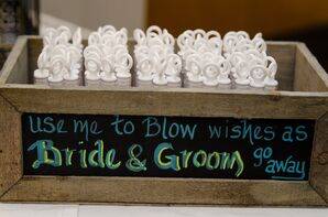 Bubbles for Newlyweds Exit
