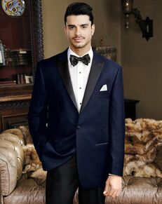 BLACKTIE LIAM Navy Velvet Wedding Tuxedo Blue Tuxedo