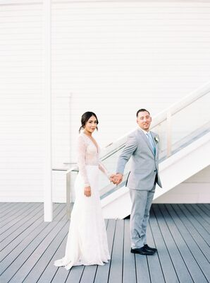 Eclectic Couple at Newport Beach Wedding