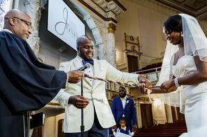 African-American Couple Tying the Knot at First Corinthian Baptist Church in Harlem