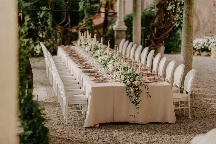 Dinner at Hotel Villa Cipressi in Varenna, Italy