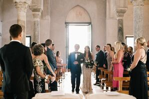 Elegant Processional at Villa Cimbrone in Italy