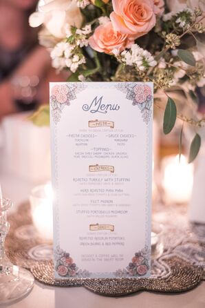 Groom-Designed Menu Card