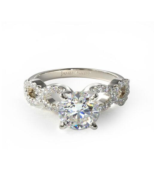 ac98c9872a525 James Allen White Gold Pave Infinity Diamond Engagement Ring ...