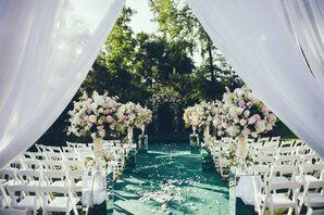 Romantic Spring Garden Getaway Backyard Ceremony