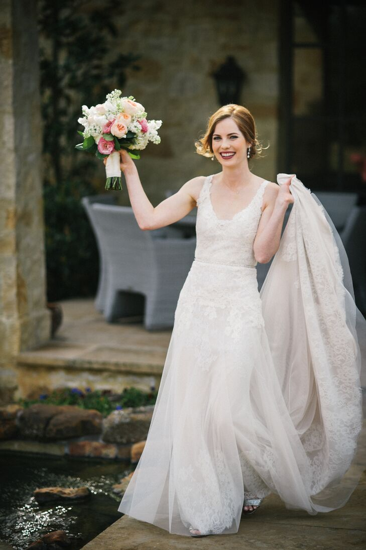 Tulle Overlay Lace Wedding Dress