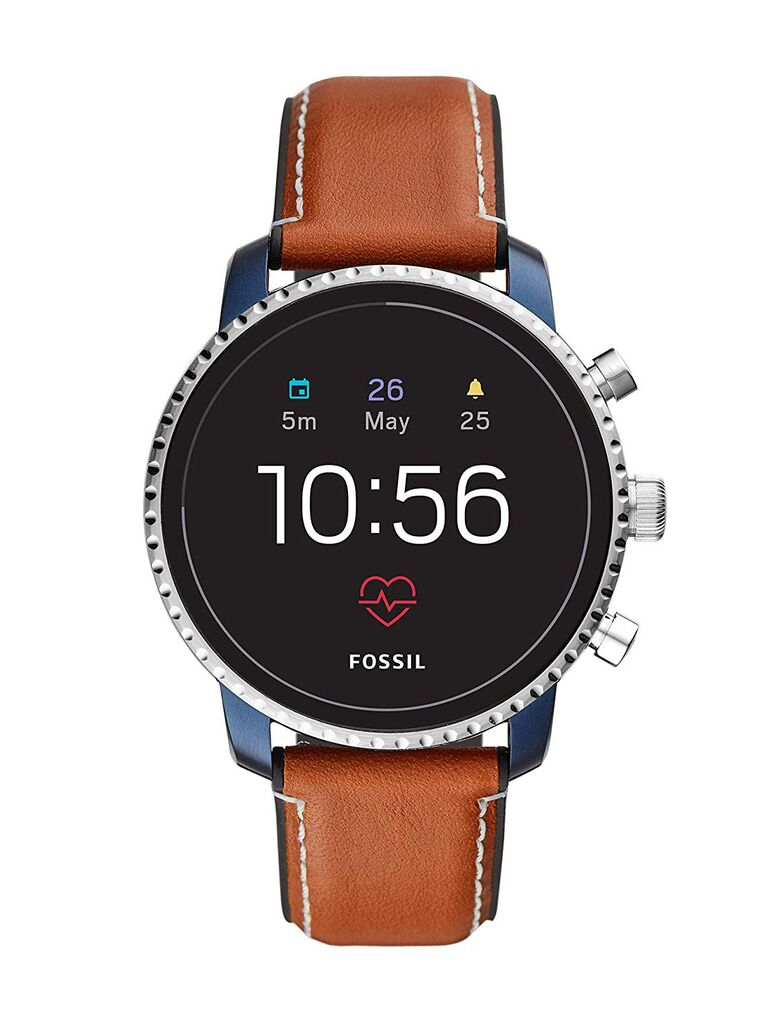 Fossil leather smart watch 15-year anniversary gift