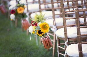 Sunflower and Vegetable Aisle Arrangements