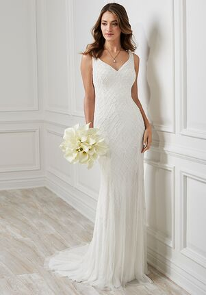Adrianna Papell Platinum Destination 40188 Sheath Wedding Dress