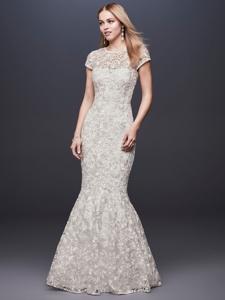 e5c294440b4f5 DB Studio Spring 2019 floral embroidered mermaid wedding gown