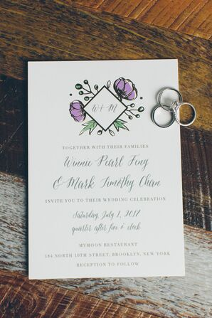 Classic Invitations with Modern Floral Motif