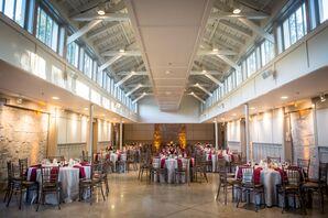 Classic, Simple Indoor Reception in Atlanta