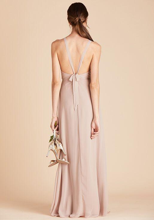 Birdy Grey Moni Convertible Dress in Taupe Halter Bridesmaid Dress