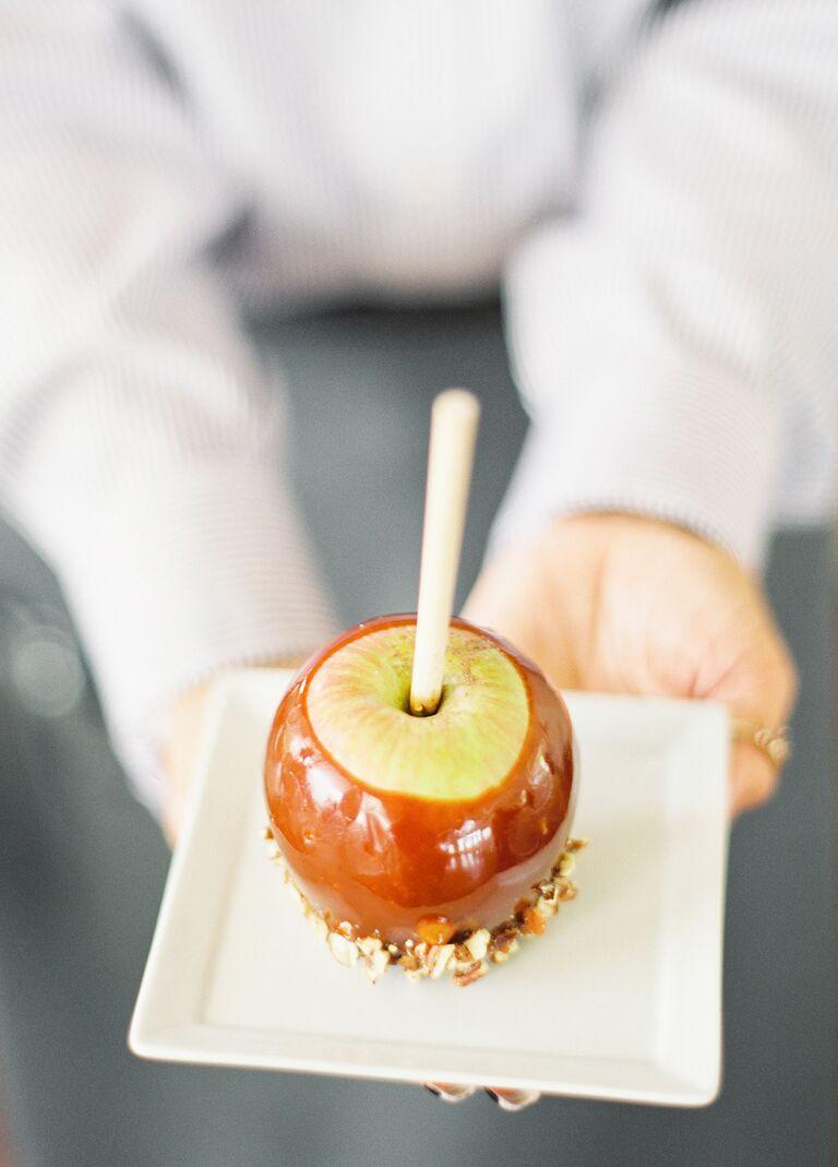 Caramel apple wedding dessert