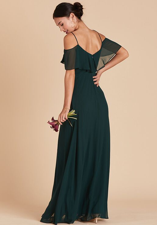 Birdy Grey Jane Convertible Dress in Emerald V-Neck Bridesmaid Dress