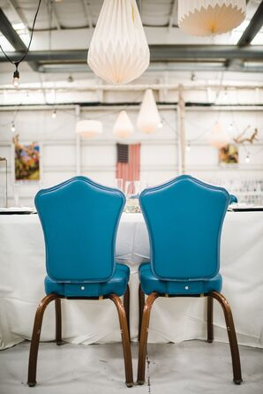 Vintage Blue Sweetheart Chairs