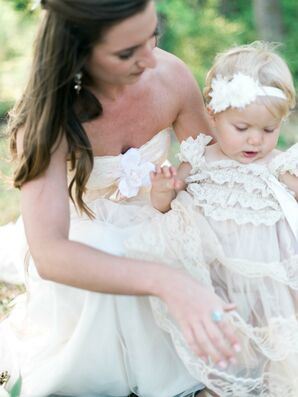 Sweet Pink Lace Baby Dress