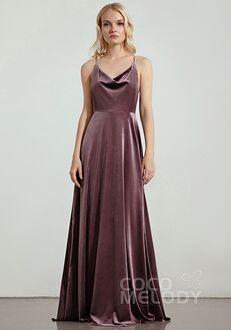 CocoMelody Bridesmaid Dresses RB0319 Halter Bridesmaid Dress