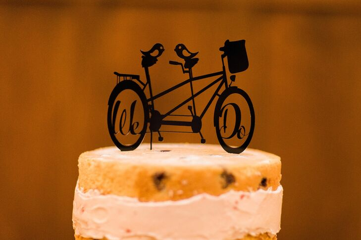"""""""We Do"""" Two-Seat Bicycle Cake Topper"""