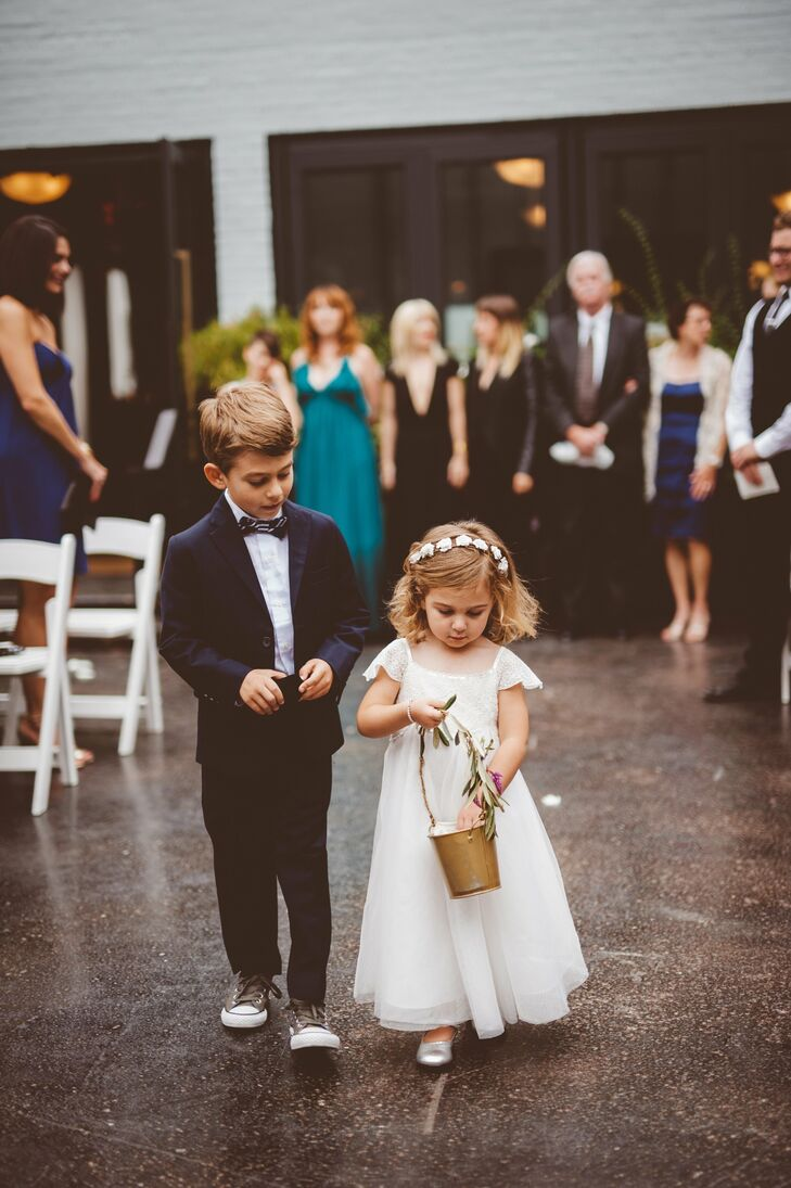 Deenie's niece and nephew were the flower girl and ring bearer.
