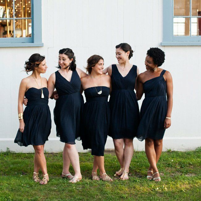 Navy JCREW Bridesmaid's Dresses