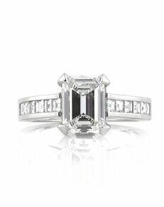 Mark Broumand Glamorous Emerald Cut Engagement Ring