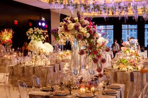 Whimsical, Architectural Floral Centerpieces