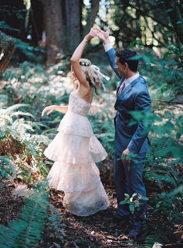 Ruffled Wedding Dress Skirt