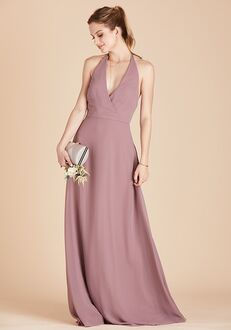 Birdy Grey Moni Convertible Dress in Dark Mauve V-Neck Bridesmaid Dress