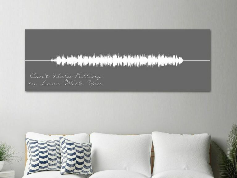 Canvas Vows song art print gift for wife