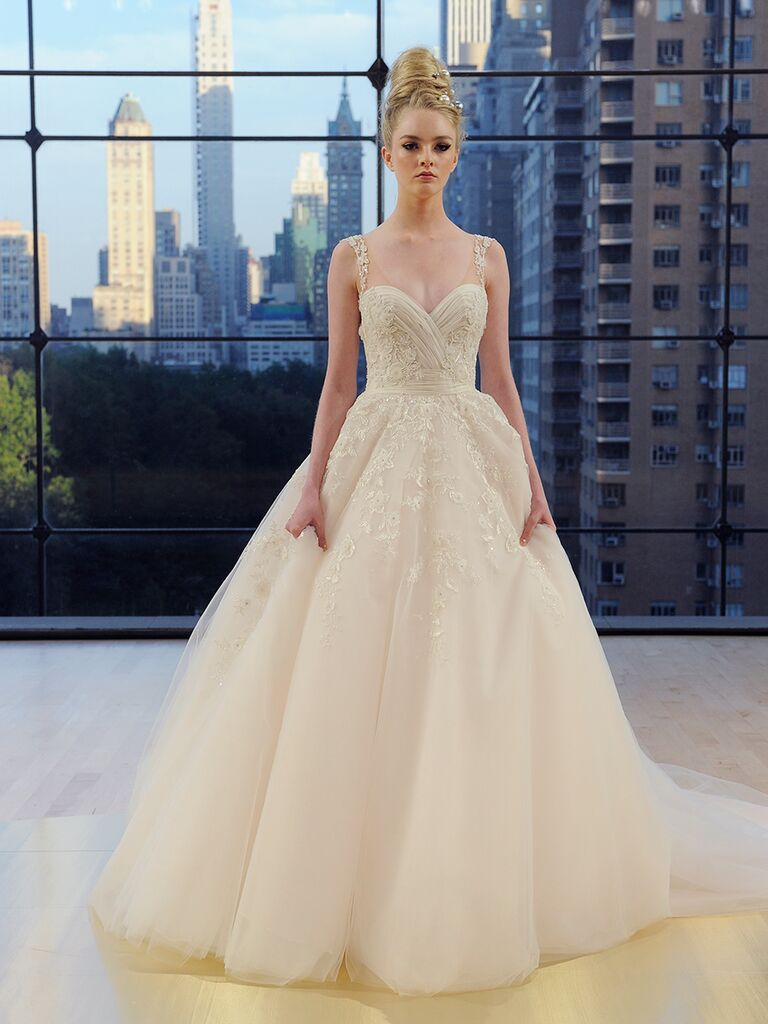 Ines Di Santo Fall 2018 embellished Madison ball gown with cascading beaded accents