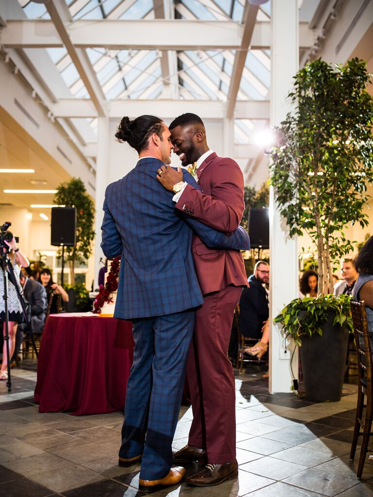 Grooms first dance at wedding