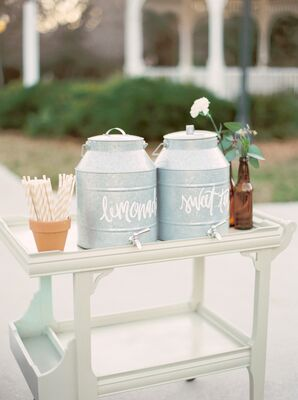 Vintage Metal Pail Drink Dispensers