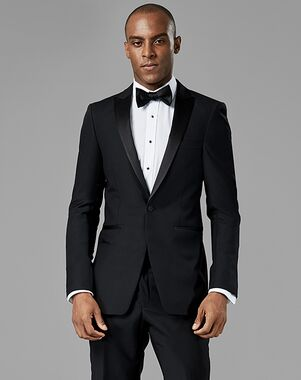 Generation Tux Black Peak Lapel Tuxedo Black Tuxedo