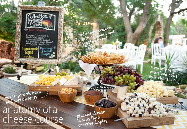 the cheese course is a comeback at weddings read the tips