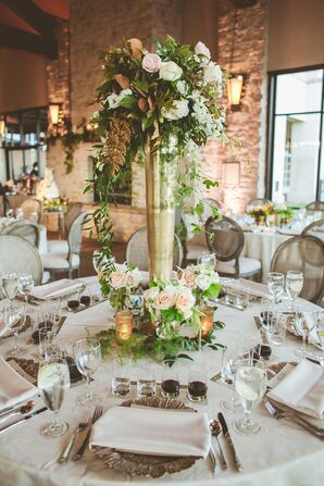 Elegant, Napa-Inspired Floral Centerpieces