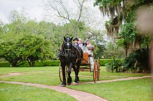 Horse and Carriage Entrance for Plantation Wedding