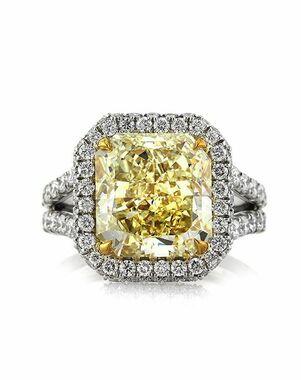 Mark Broumand Glamorous Radiant Cut Engagement Ring