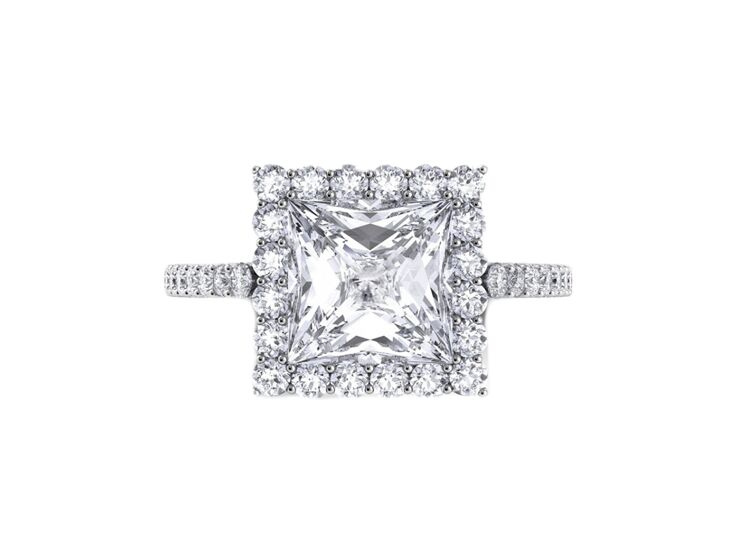 danhov princess cut engagement ring