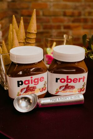 Personalized Nutella Jars and Ice Cream Scoop