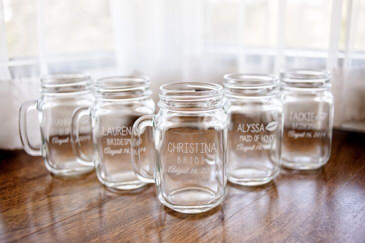 Personalized Mason Jar Bridesmaid Gifts