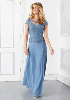 MGNY 72302 Blue Mother Of The Bride Dress
