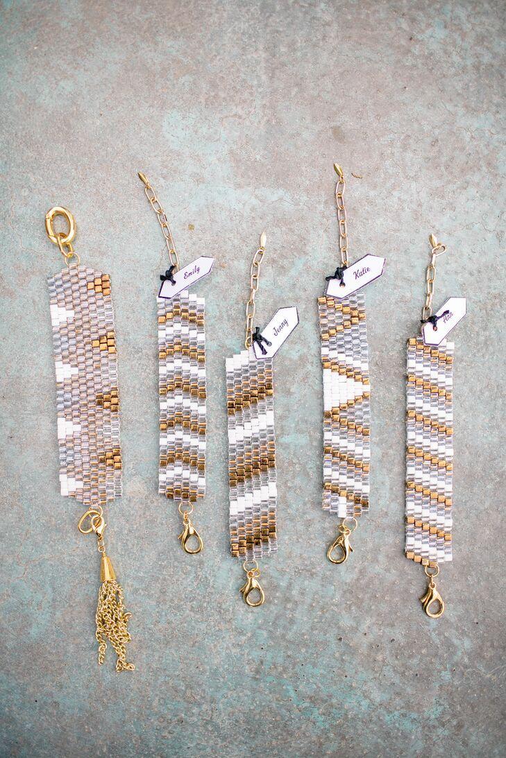 Bohemian Metallic Chevron Bracelets